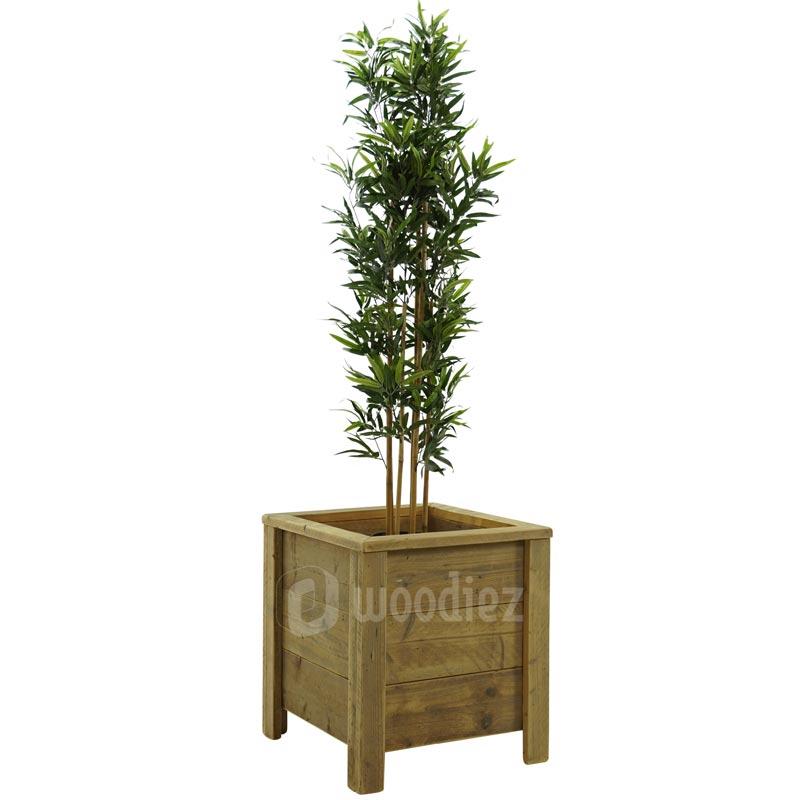 Bamboe plantenbak steigerhout strak