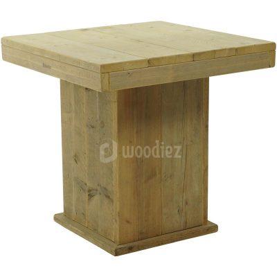 Vierkante steigerhouten tafel huren