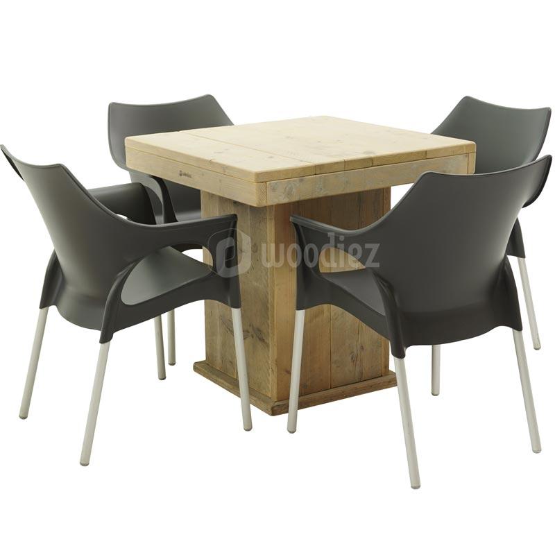 Steigerhouten tafel huren voor je feest of evenement woodiez for Stijgerhout tafel