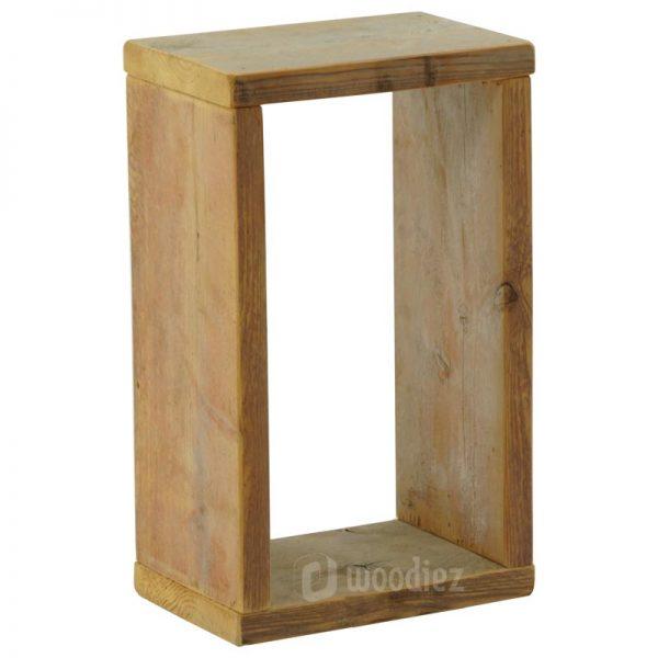 Steigerhouten decoratie huren kader om bijvoorbeeld producten tentoon te stellen