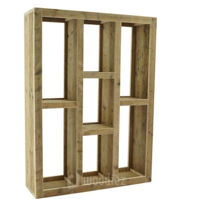 Grote presentatiekast huren van steigerhout