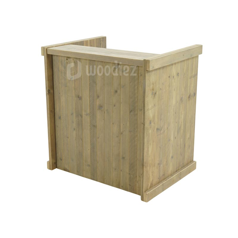 Kleine balie of ontvangstbalie van steigerhout