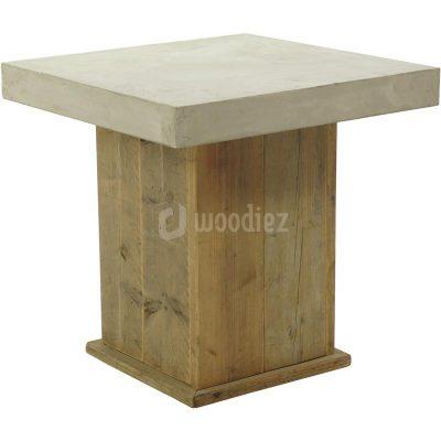 Steigerhouten tafel met beton blad huren