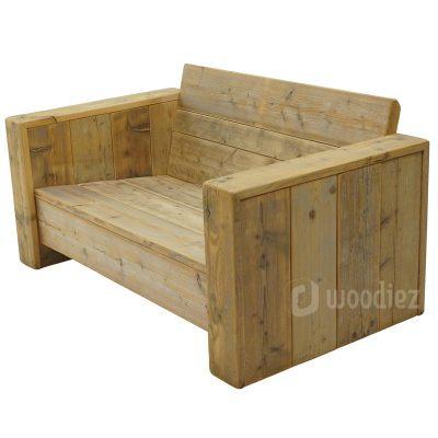 Tweepersoons loungebank steigerhout huren