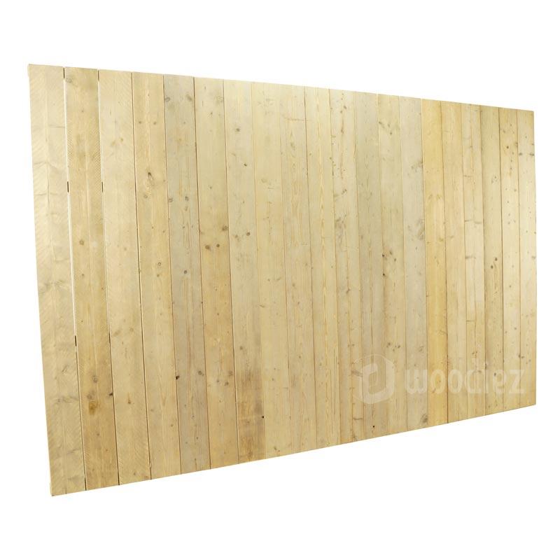 Beurs achterwand van steigerhout