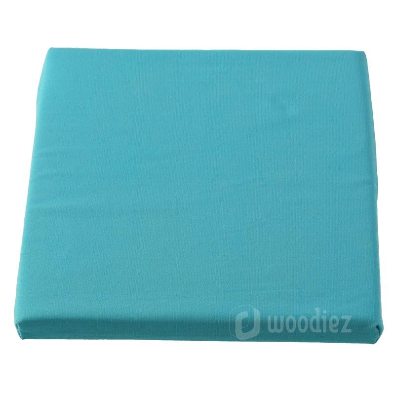 Aquablauw barkruk kussen