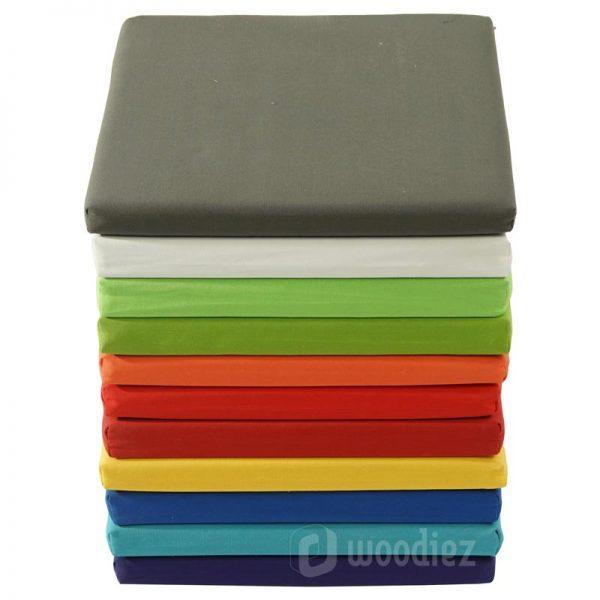 Barkruk kussens in verschillende kleuren om je evenement extra sfeer te geven