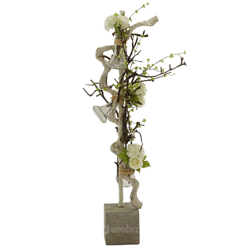 Groot bloemstuk huren met witte bloemen