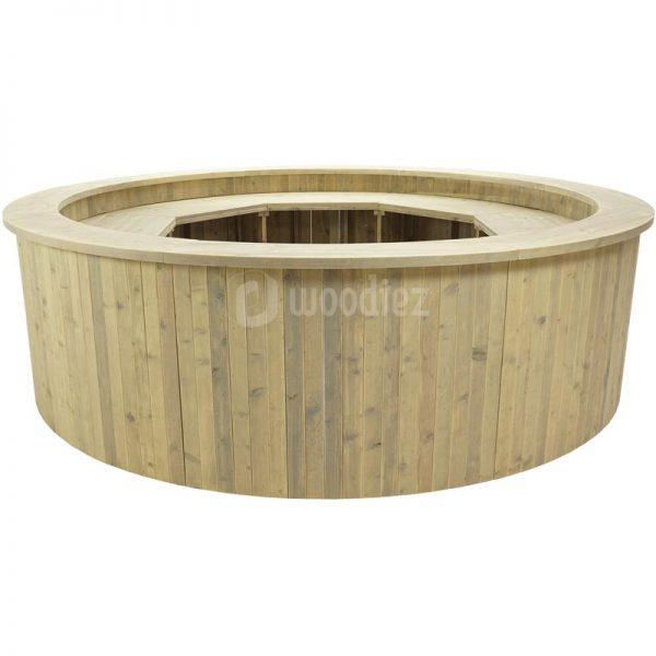 Steigerhouten ronde bar huren