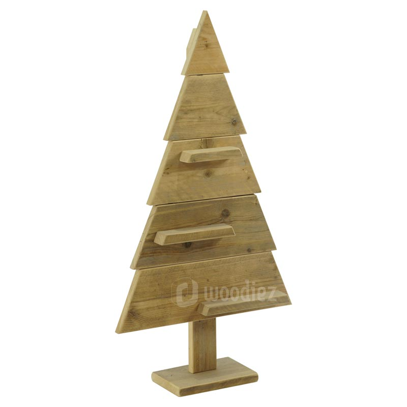 Steigerhouten kerstboom voor tijdens een kerstborrel, winterfeest of personeelsfeest