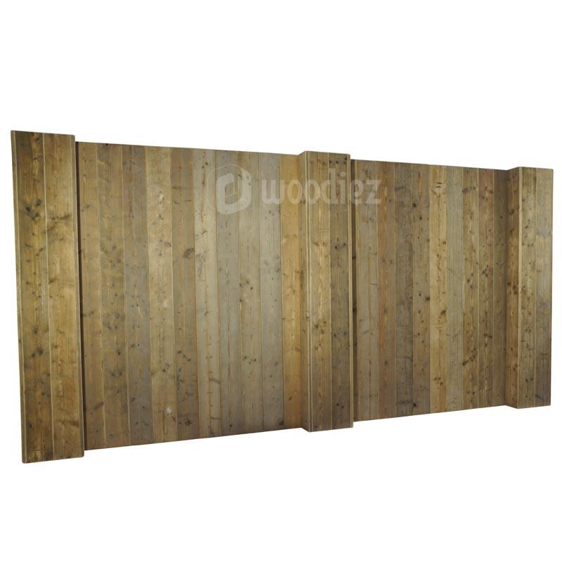 Robuuste achterwand steigerhout dubbel