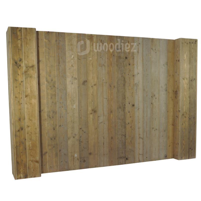 Robuuste achterwand steigerhout huren