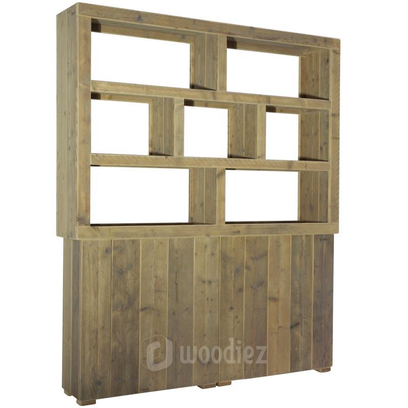 Steigerhouten achterkast zonder rug