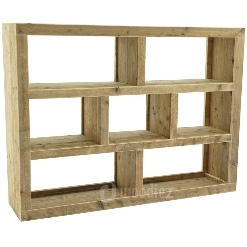 Steigerhouten vakkenkast of boekenkast op maat | Woodiez