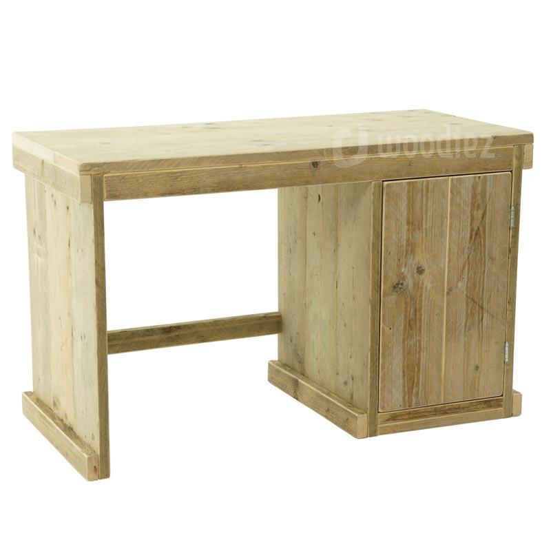 Steigerhouten bureau met opbergkast op maat