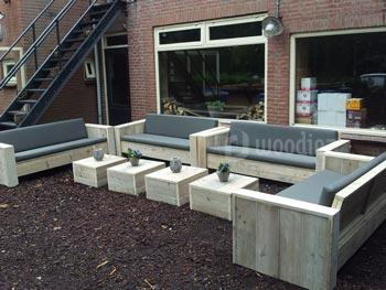 Complete loungeset van steigerhout op maat kopen