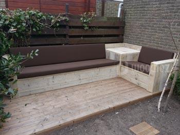 Steigerhout loungeset loungestoel met loungebank lounge tuin te