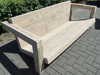 Steigerhouten loungebank of loungeset op maat kopen for Tuinbank steigerhout aanbieding