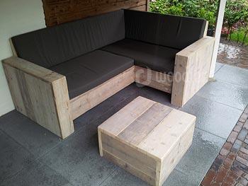 Steigerhouten lounge bank designtuinmeubels steigerhouten