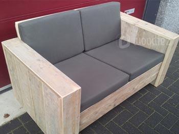 Kleine steigerhouten loungebank voor twee personen loungemeubels kopen