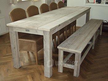 Steigerhouten eetkamertafel op maat gemaakt | Woodiez