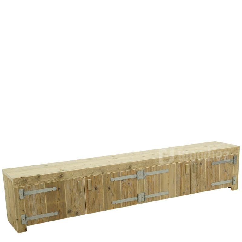 Steigerhouten TV-meubel op maat met deuren