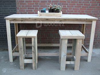 Steigerhouten tuintafel op maat gemaakt woodiez for Tuintafel steigerhout bouwpakket