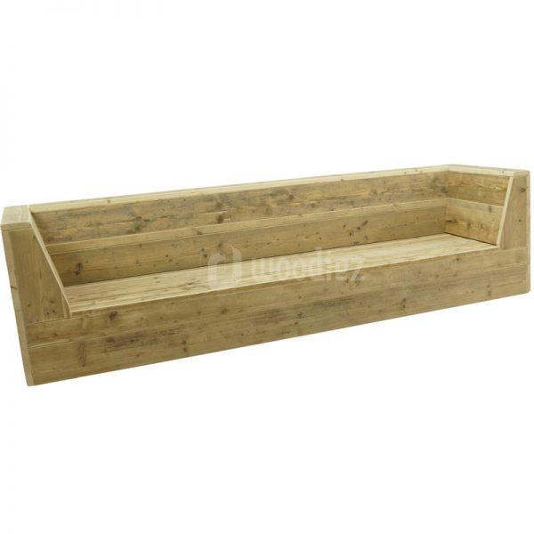Steigerhouten loungebank op maat kopen