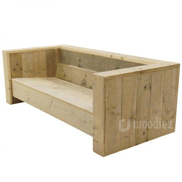 Steigerhouten loungebank op maat kopen robuust