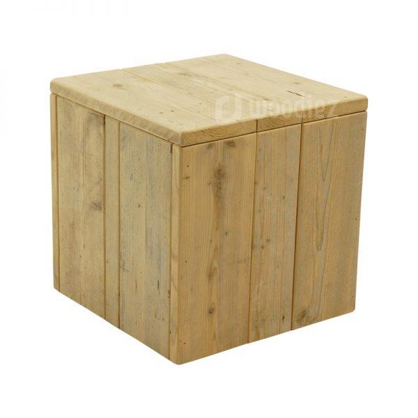 Steigerhouten sidetable of salontafel op maat hocker