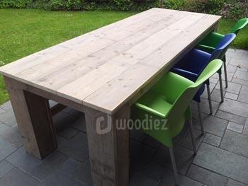 Steigerhout furniture vierkante steigerhout tuintafel halvor