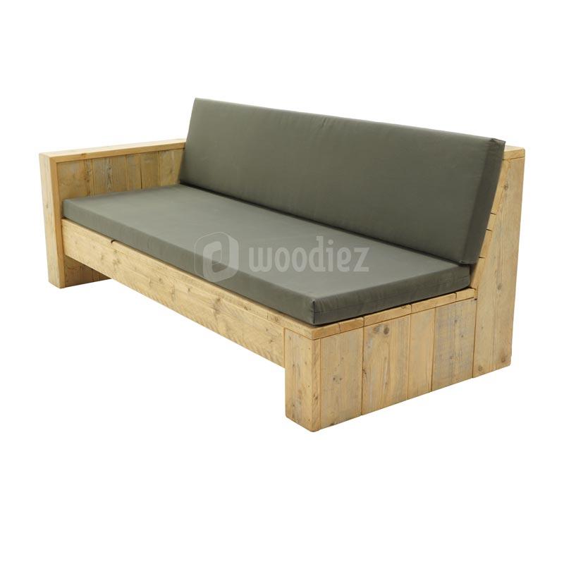 Unieke loungebank op maat met weerbestendige kussens op maat kopen