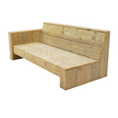 Unieke steigerhouten loungebank op maat