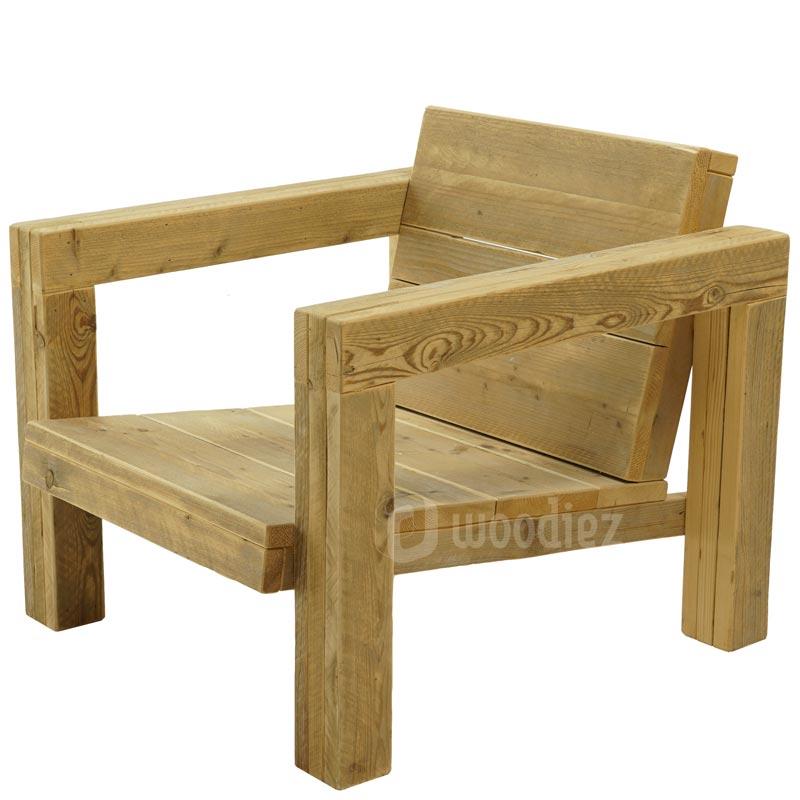 Design loungestoel van steigerhout op maat kopen
