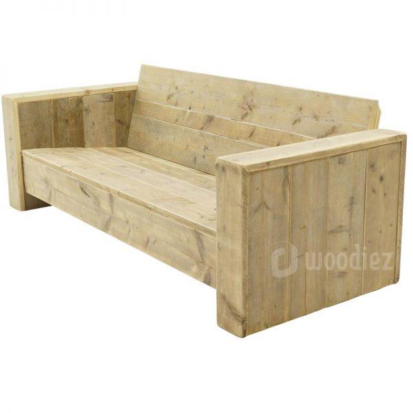 Maatwerk loungebank van steigerhout kopen woodiez for Steigerhout op maat
