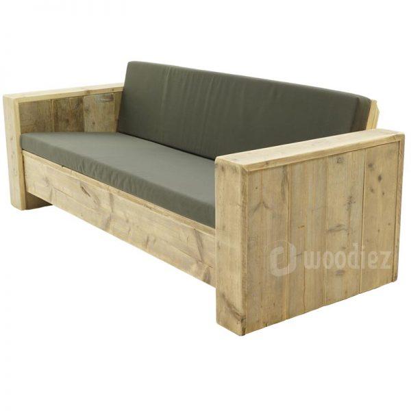 Steigerhouten loungebank inclusief kussens op maat