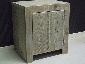 Steigerhouten nachtkastje robuust strak model maatwerk