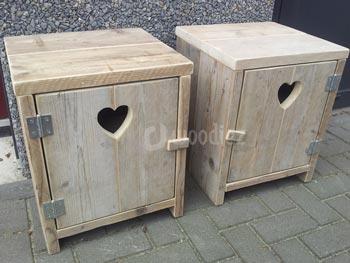 Kast Badkamer Steigerhout : Badkamermeubels jorg`s houten meubelen