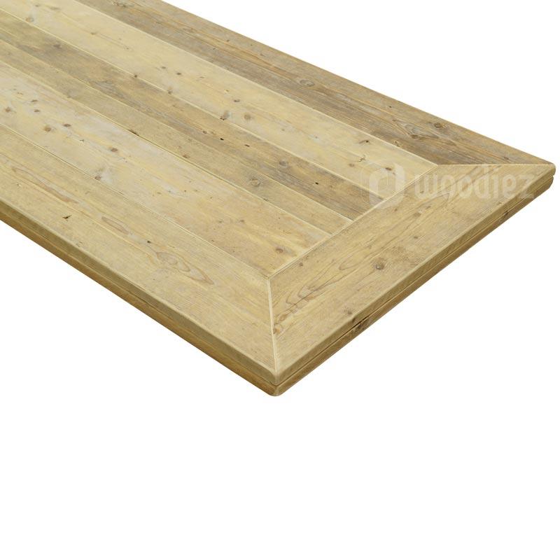 Steigerhouten tafelblad in verstek