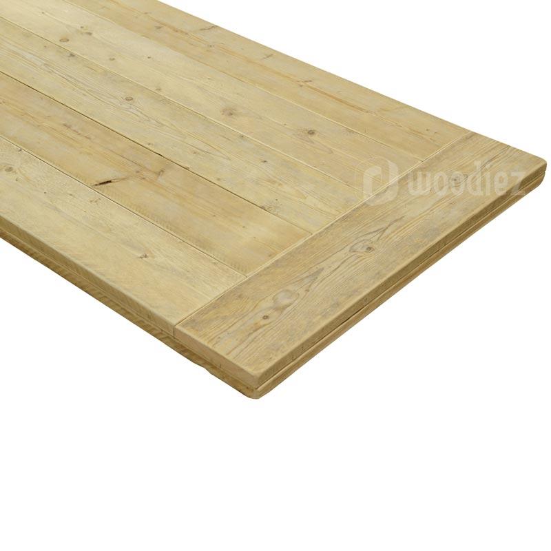 Steigerhouten tafelblad met horizontale plank