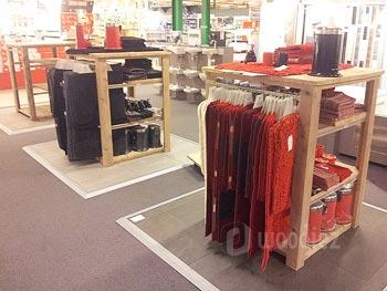 Steigerhouten winkelinrichting op maat steigerhouten kledingrekken