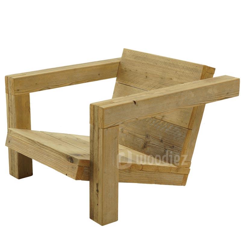 Unieke steigerhouten loungestoel op maat kopen