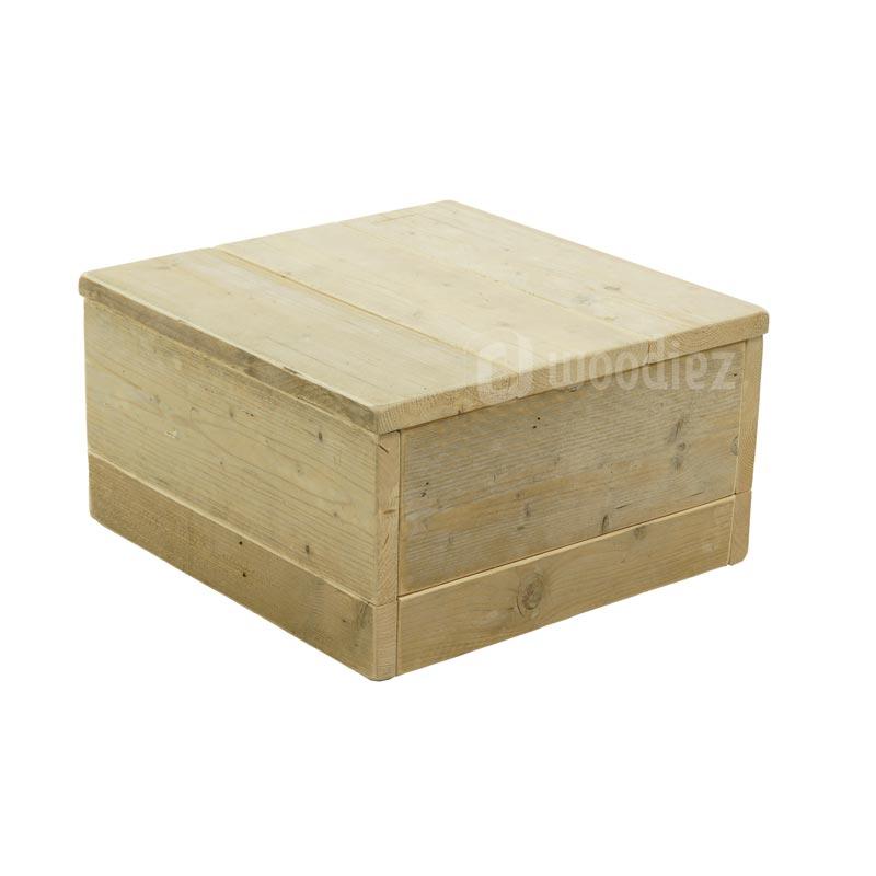 Hocker steigerhout op maat 60 x 60 cm
