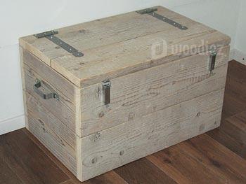 Kist of dekenkist van steigerhout op maat gemaakt