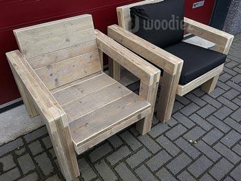 Mooie loungestoelen van steigerhout robuust en stoer